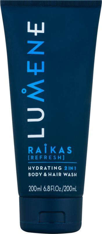 Lumene Men Raikas [Refresh] Feuchtigkeit spendendes Shampoo und Waschgel 2 in 1